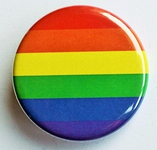 Regenbogen-Button M
