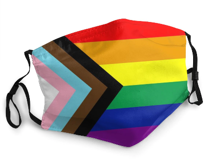 Rainbow & Progress Pride Corona Face Mask