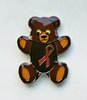 Bear Pin with Red Ribbon